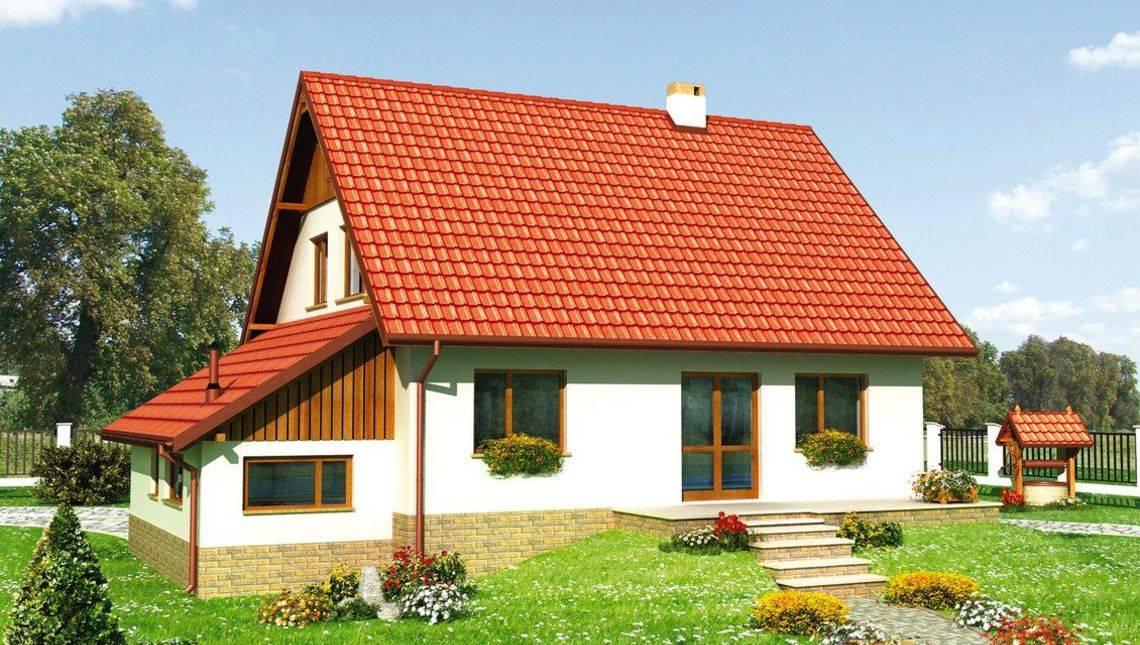 Проект дома с мансардой в деревенском стиле