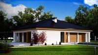 Проект одноэтажного дома с 4 спальнями и гаражом