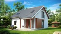 Проект бюджетного простого дома с мансардой