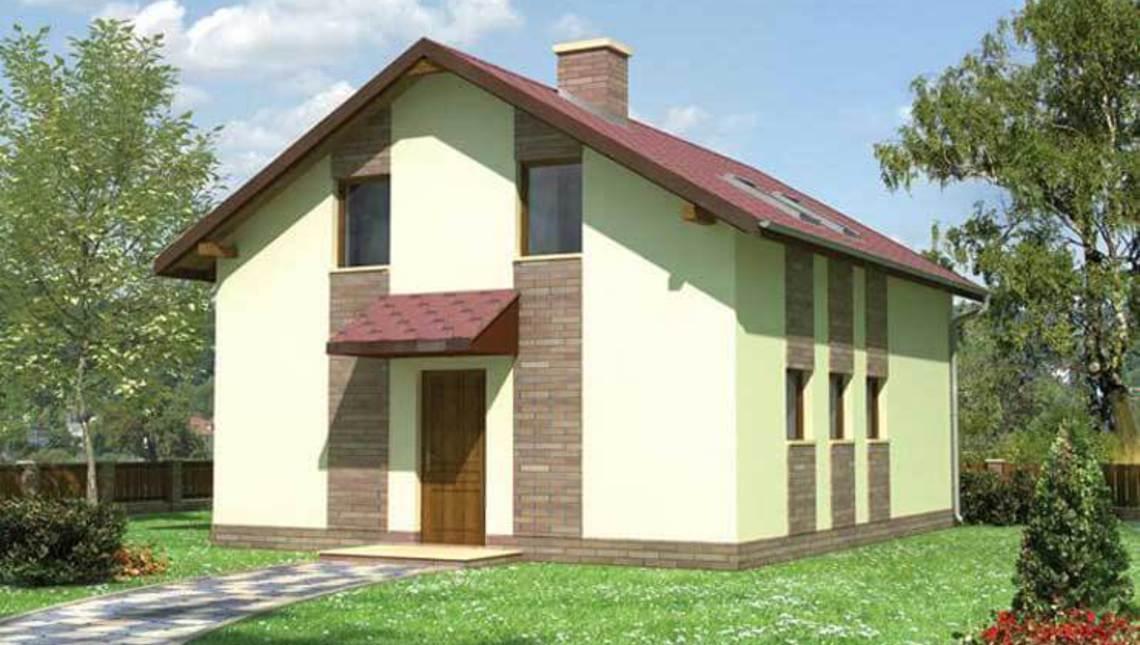 Гаражное здание с жилой частью на чердаке