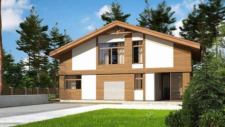 Проект гостевого домика с баней до 100 m²