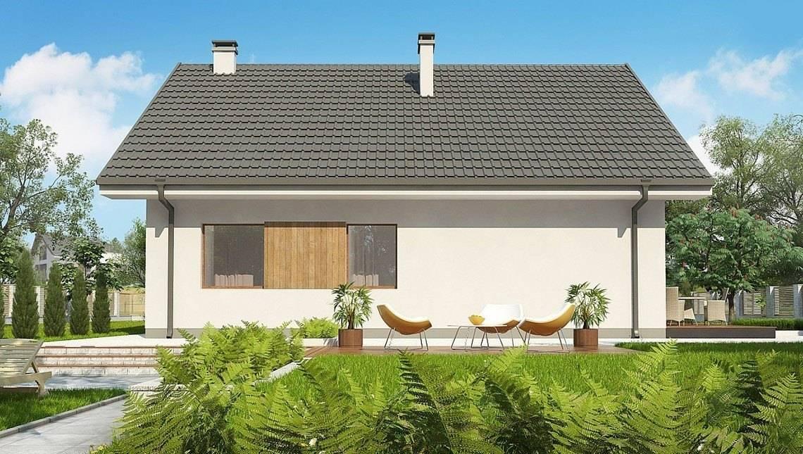 Классический проект загородной усадьбы с мансардой и с гаражом
