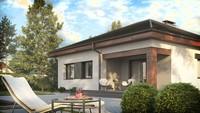 Проект стильного одноэтажного классического дома