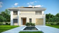 Привлекательный проект двухэтажного дома с гаражом на 1 машину