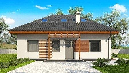 Классический проект дачного дома 10 на 12