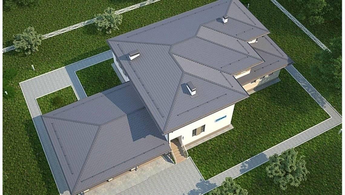 Проект роскошного двухэтажного особняка в стиле ранчо