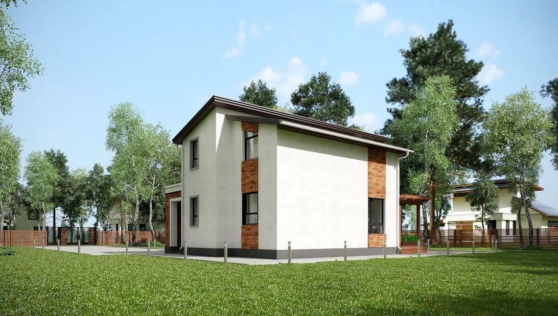 Проект комфортабельного коттеджа с тремя спальнями
