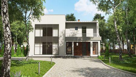 План современного жилого дома, наполненного светом