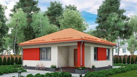 Проект компактного одноэтажного загородного дома площадью 60м2