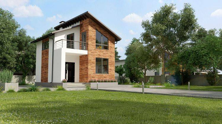 План небольшого загородного дома площадью 60м2