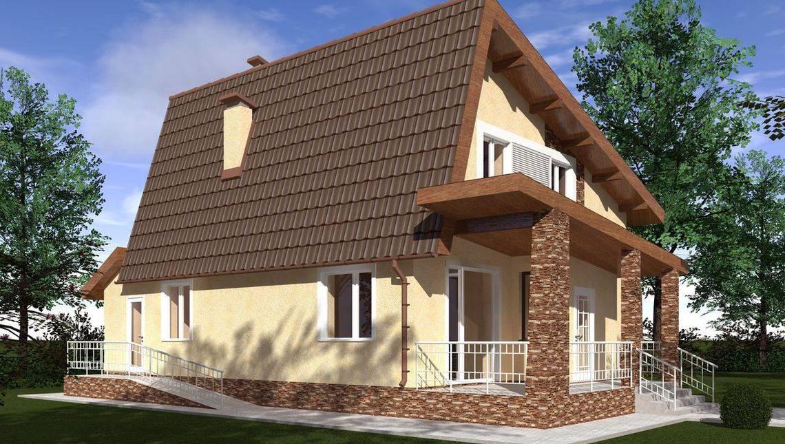 Проект мансардного дома необычной формы