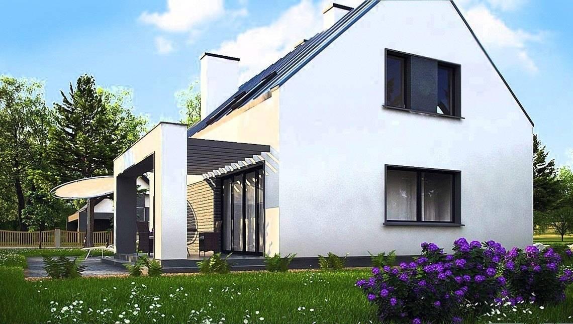 Современный стильный дом с гаражом