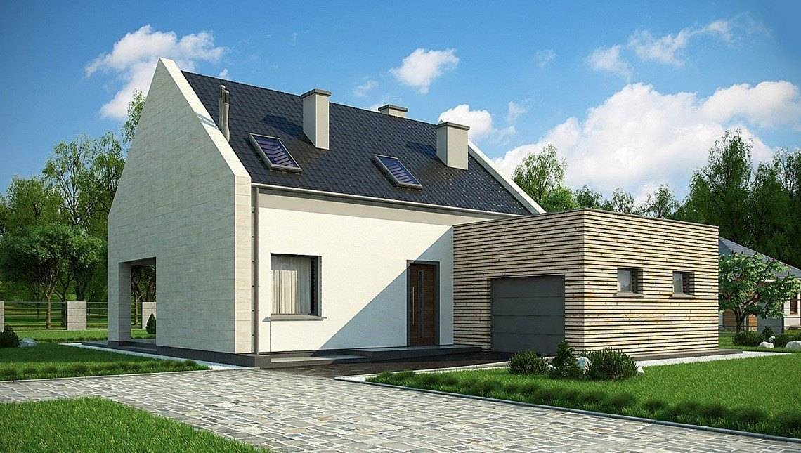 Стильный современный дом с мансардой