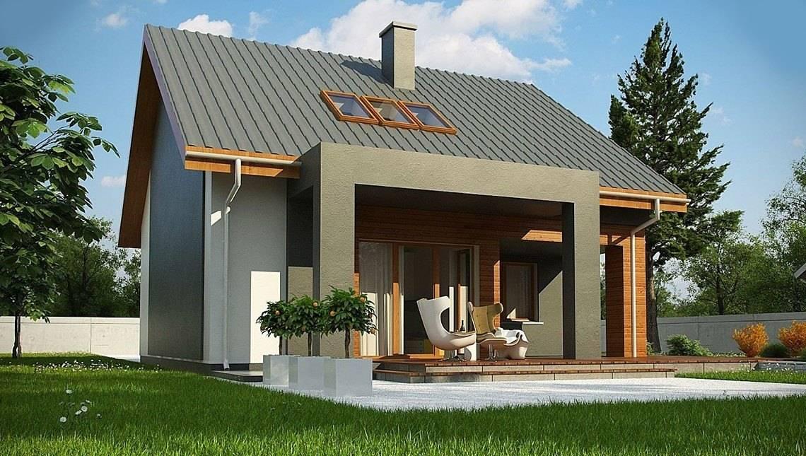 Стильный современный коттедж с кирпичным фасадом