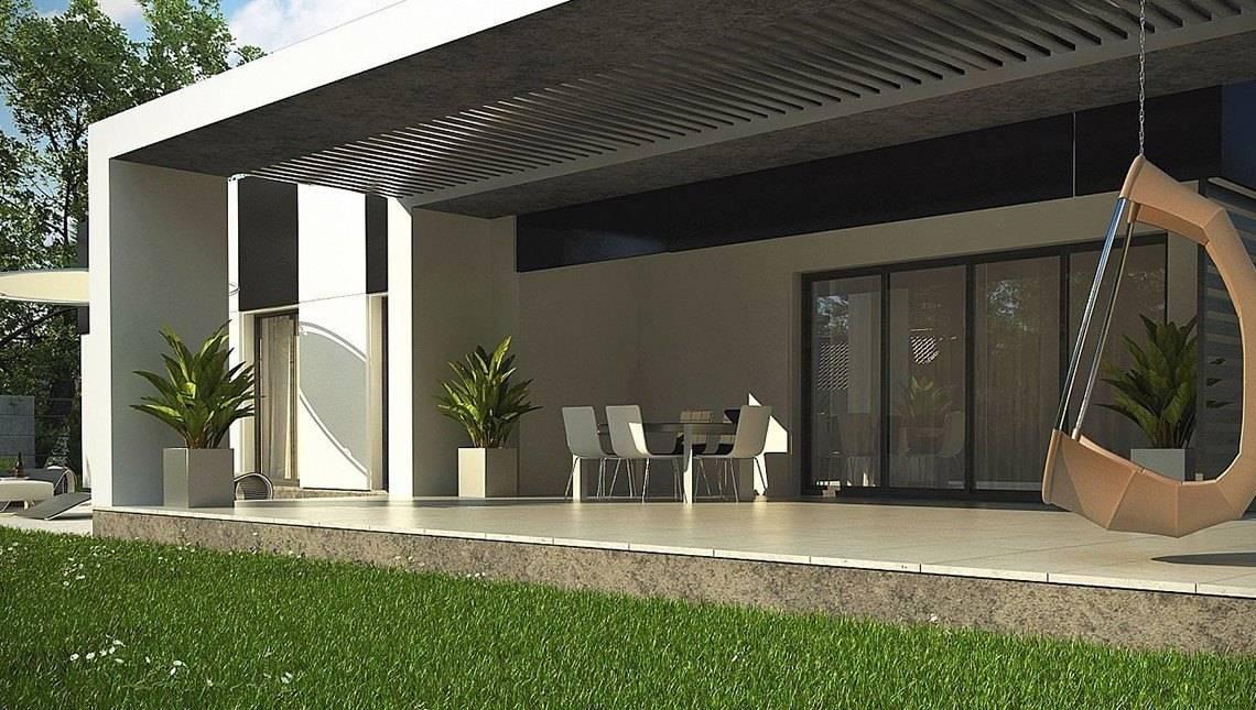 Одноэтажный проект для узкого участка