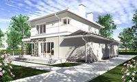 Проект для строительства светлого двухэтажного особняка