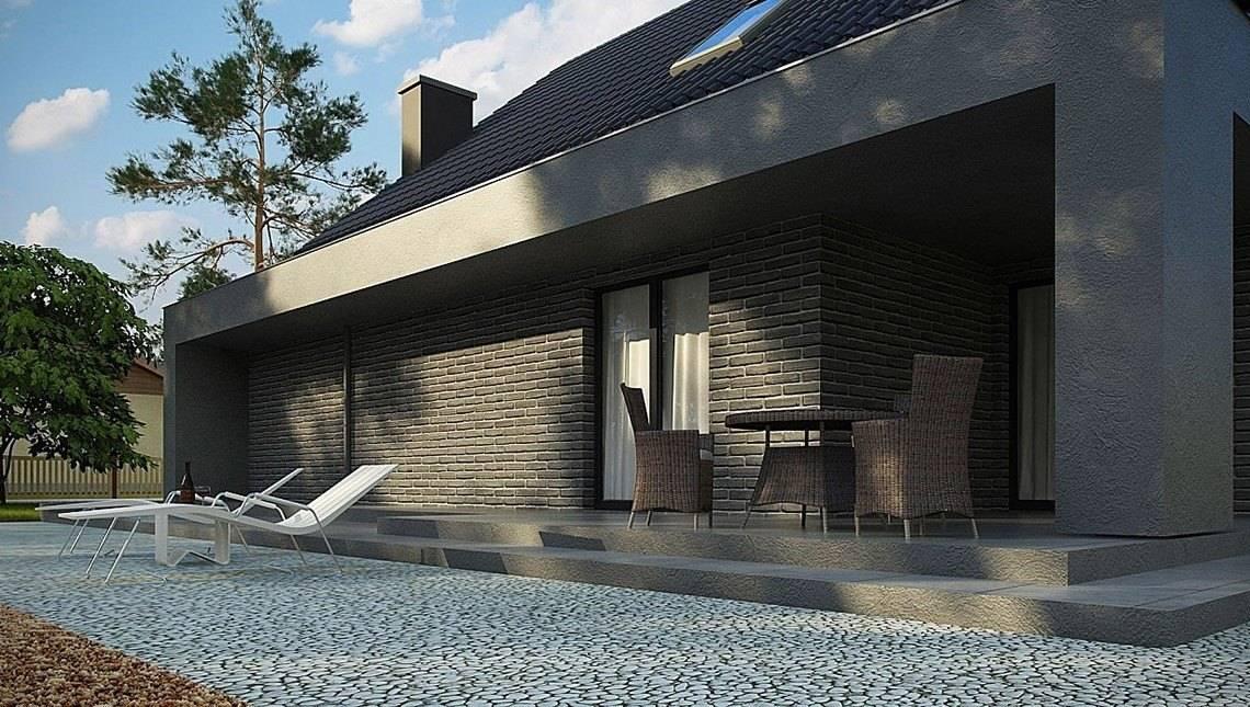 Интересный проект с большой террасой над гаражом