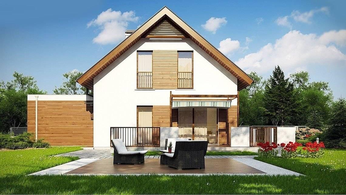 Проект классического двухэтажного коттеджа с гаражом на две машины площадью более 150 m²