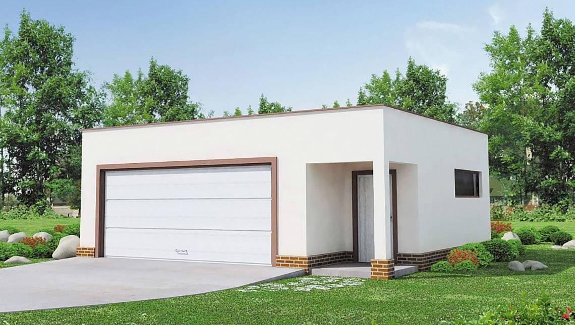 Минималистичный проект гаража на 2 авто