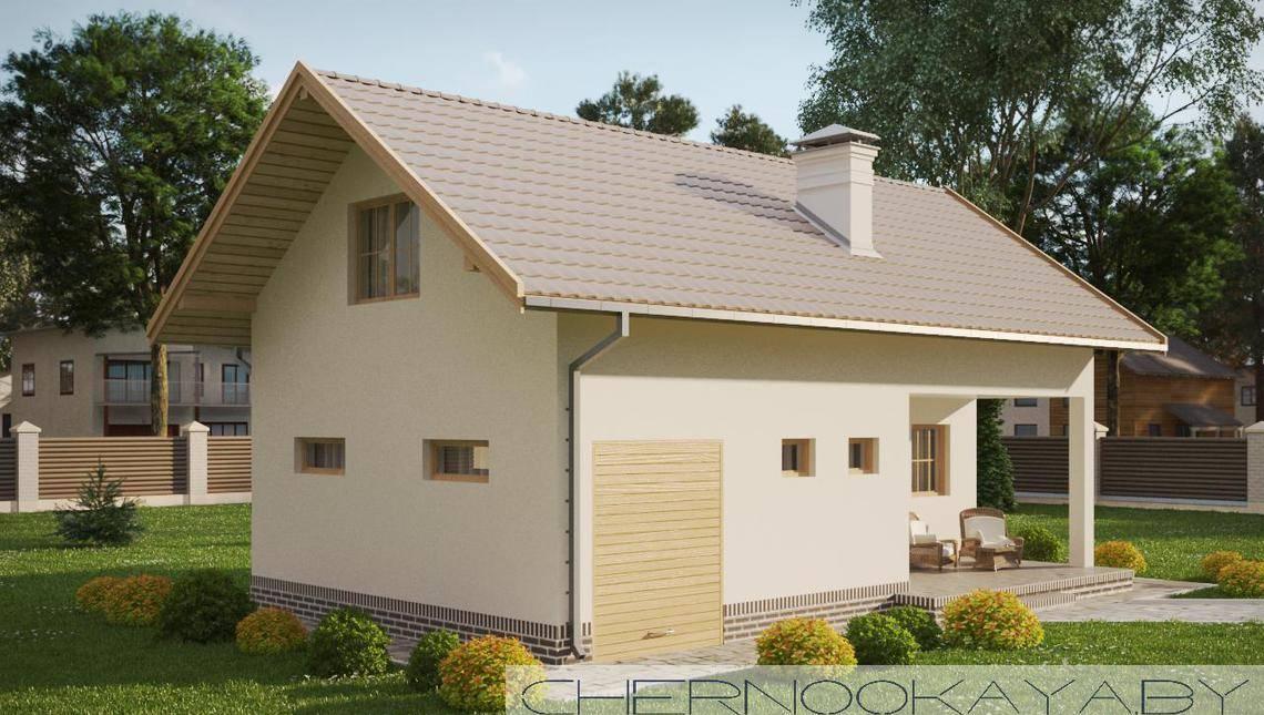 Современный загородный дом для банных процедур
