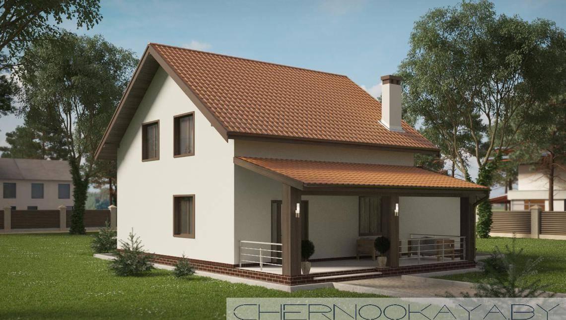 Двухэтажный дом с комфортными жилыми помещениями