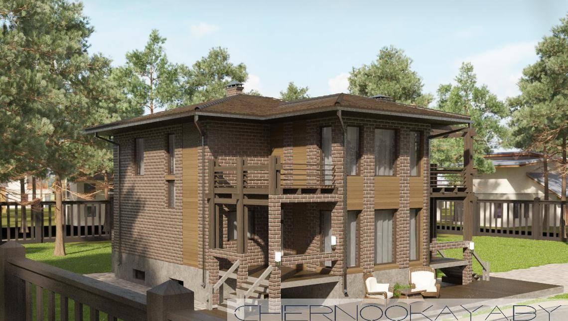 Изящный жилой дом с кухней-гостиной в центре