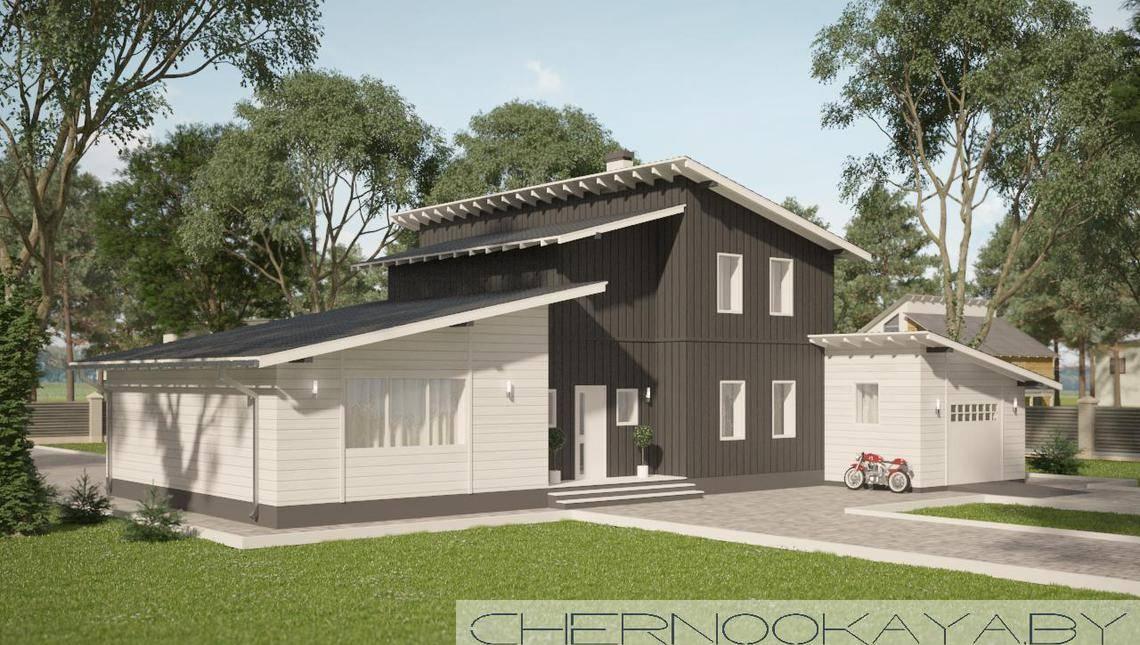 Стильный загородный дом для отдыха
