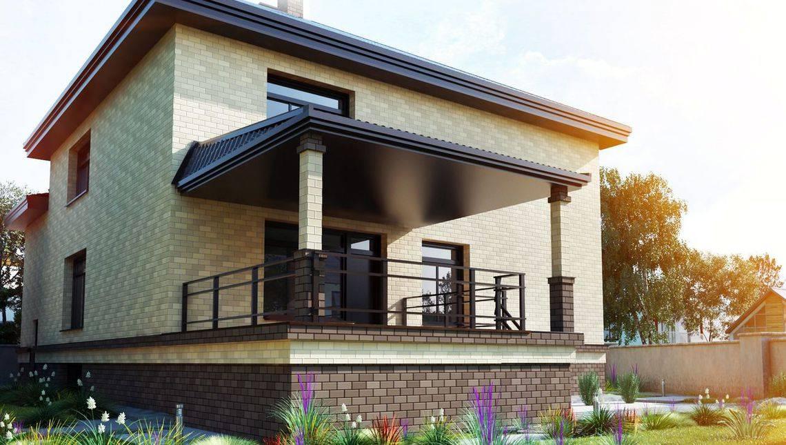 Двухэтажный просторный дом с цокольным этажом