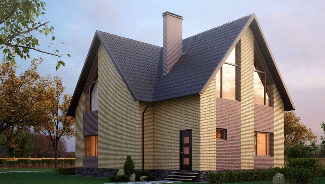 План необычного красивого двухэтажного дома