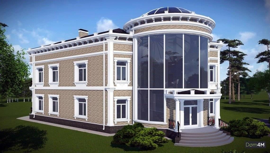 Шикарная представительная резиденция с революционной крышей