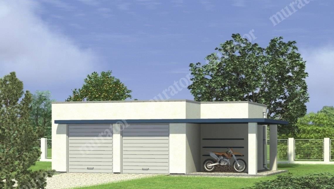Современный гараж на 2 авто