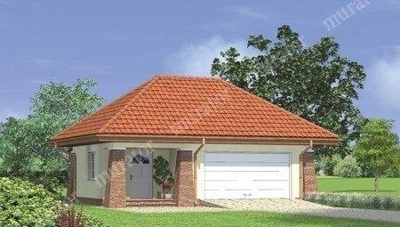 Красивый гараж на 2 машины с террасой