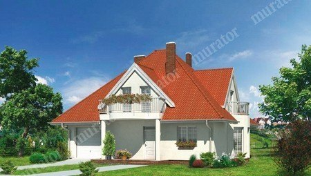 Красивый дом с 3 балконами