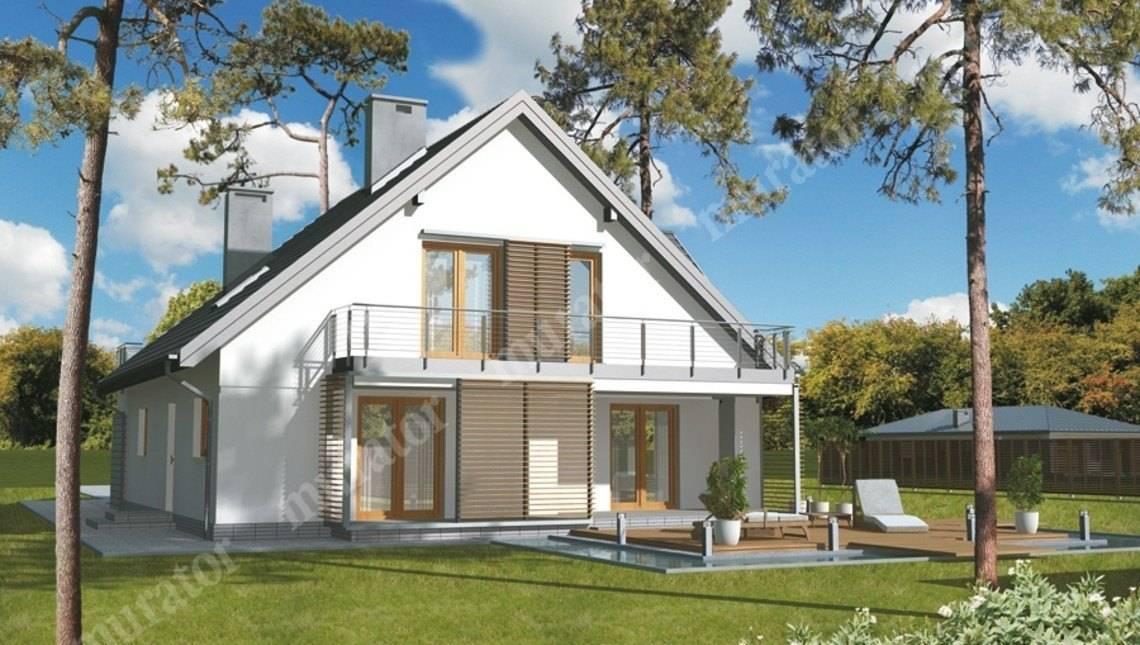 Двухэтажный дом необычной планировки