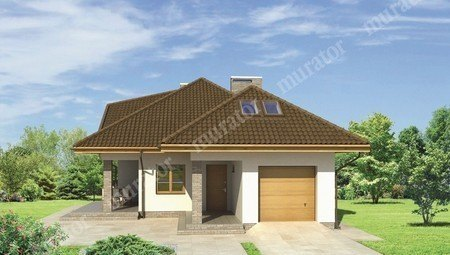 Красивый дом с двумя террасами