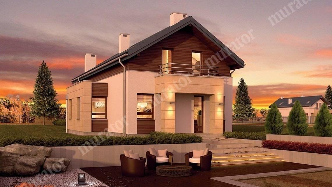 Стильный дом на 2 балкона