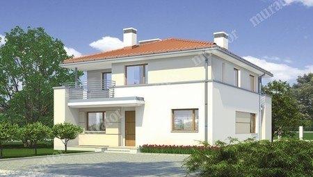 Гармоничный двухэтажный дом с балконами