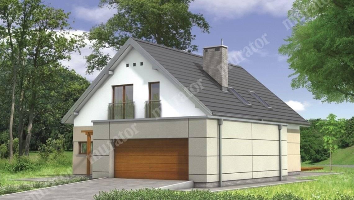 Стильный дом с двухскатной крышей