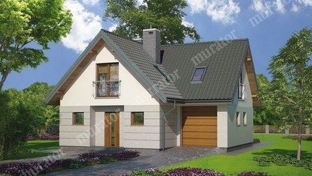 Двухэтажный дом с гаражом на 1 авто
