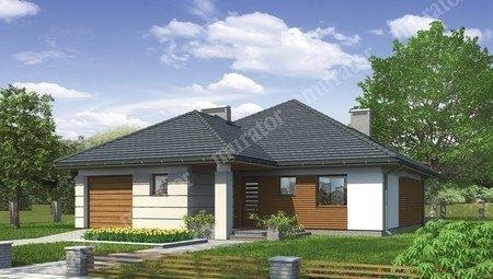 Проект одноэтажного дома с декоративными украшениями из древесины