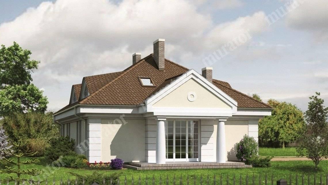 Большой особняк в классическом стиле с колонами