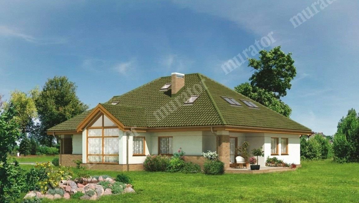 Двухэтажный дом в природных тонах