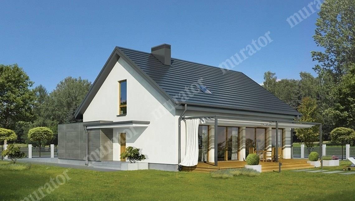 Красивый дом в бело-серых тонах