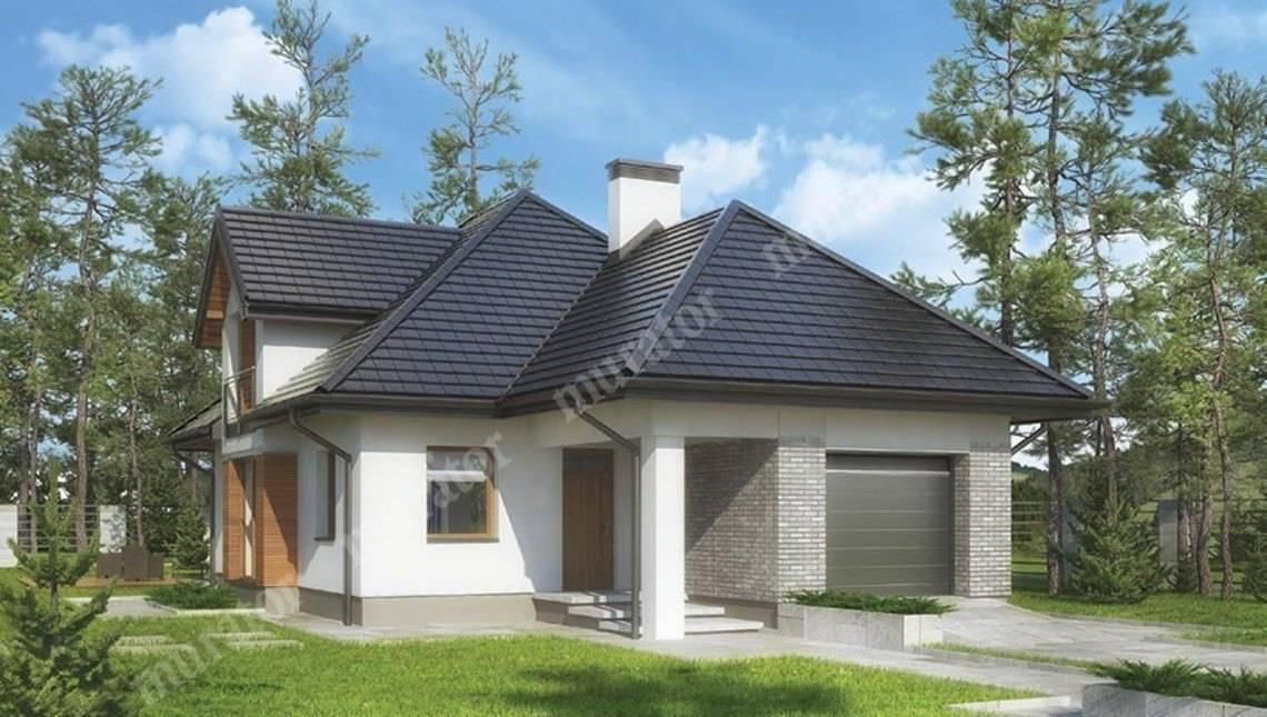Красивый дом под сложной крышей