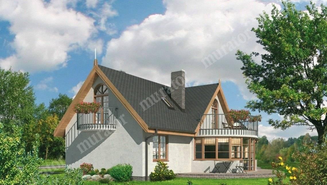 Великолепный дом с круглым эркером