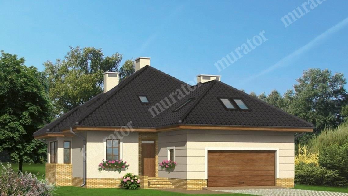 Привлекательный дом с кирпичным орнаментом