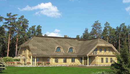 Деревянное строения под предприятие общественного питания с жилыми апартаментами
