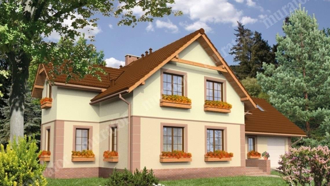 Двухэтажный дом привлекательного вида