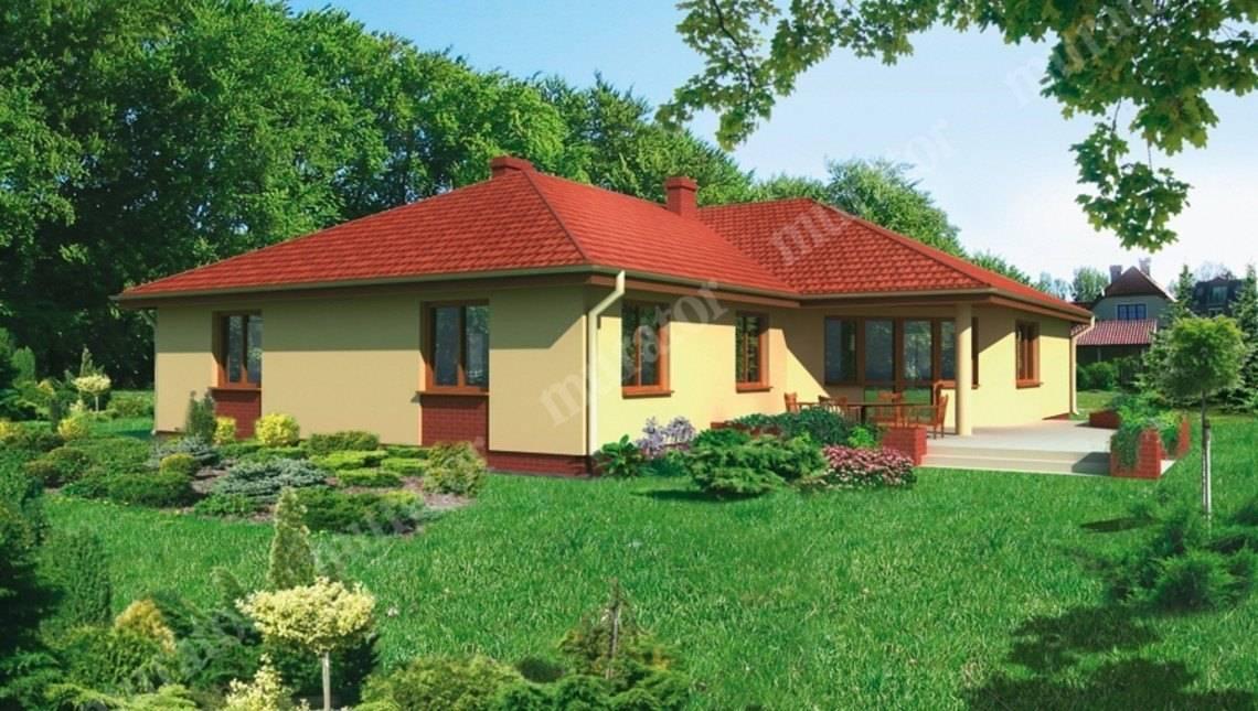 Одноэтажный яркий дом на 6 спален