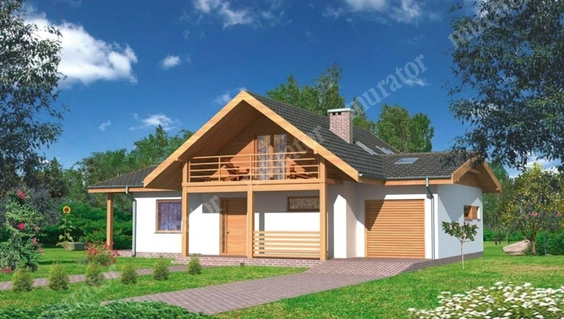 Интересный двухэтажный дом